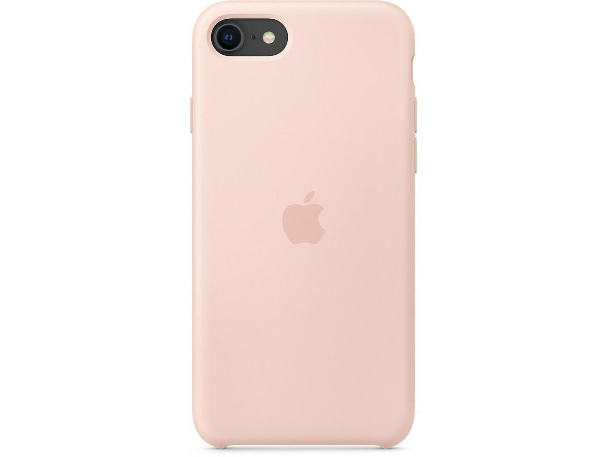 Чехол Silicone Case качество Lux для iPhone SE 2020 светло-розовый в Тюмени