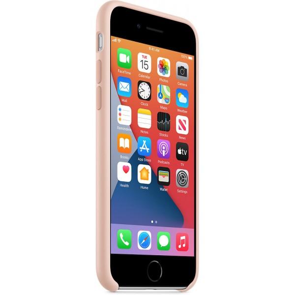 Чехол Silicone Case качество Lux для iPhone SE 2020 светло-розовый