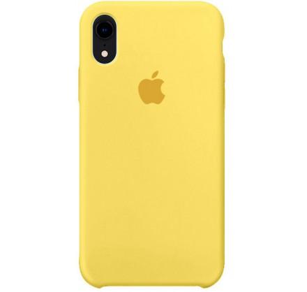 Чехол Silicone Case iPhone Xr желтый