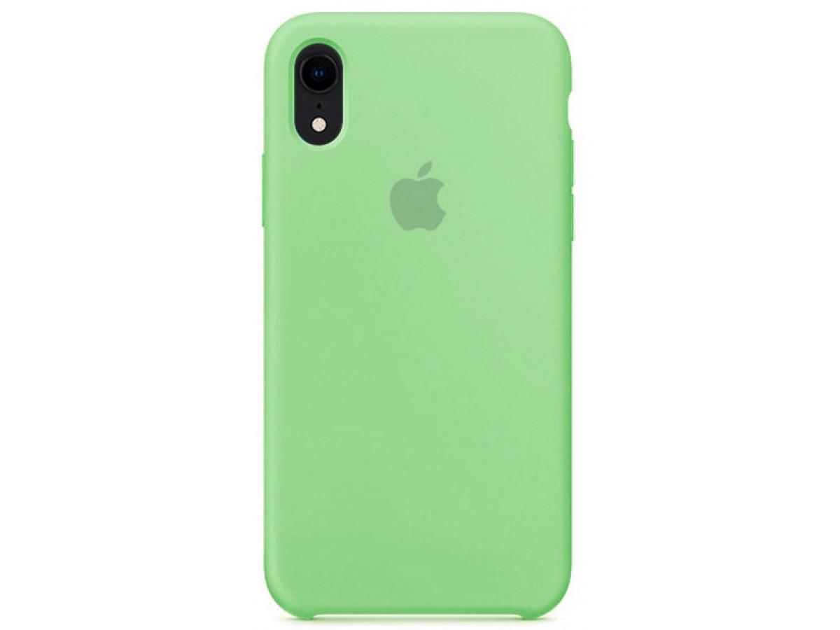 Чехол Silicone Case iPhone Xr мятный в Тюмени