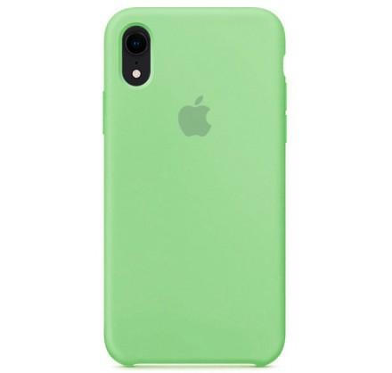 Чехол Silicone Case iPhone Xr мятный