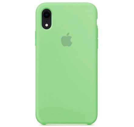 Чехол Silicone Case качество для iPhone XR мятный