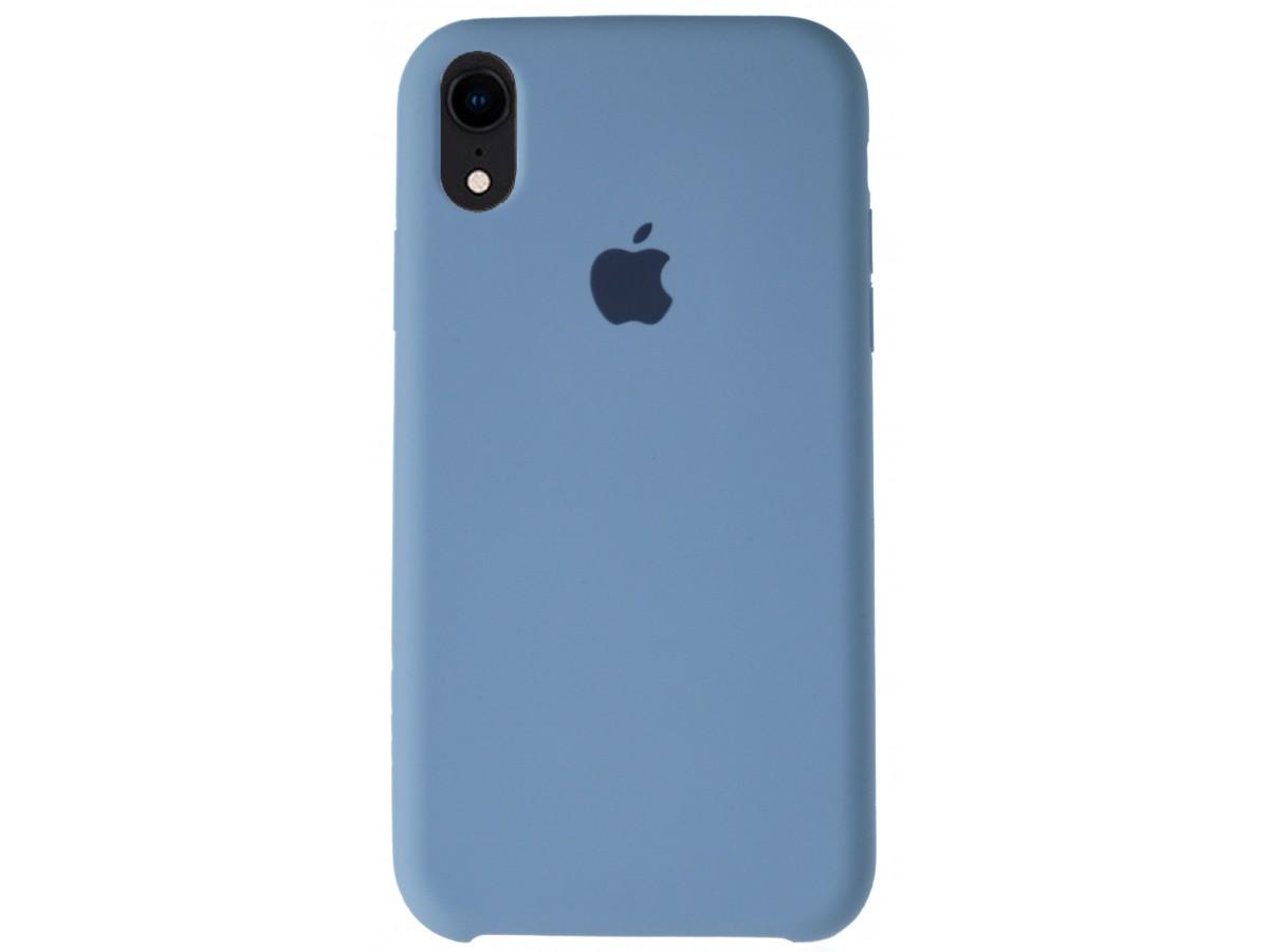 Чехол Silicone Case для iPhone XR светло-голубой в Тюмени