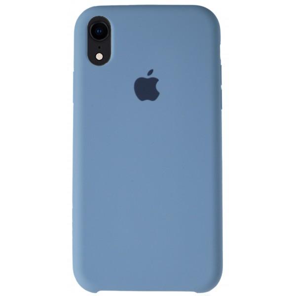 Чехол Silicone Case для iPhone XR светло-голубой