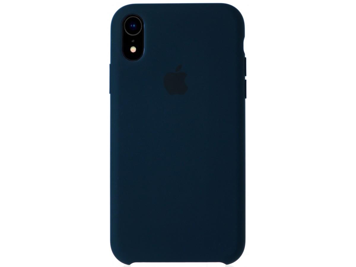 Чехол Silicone Case качество Lux для iPhone XR тихий океан в Тюмени