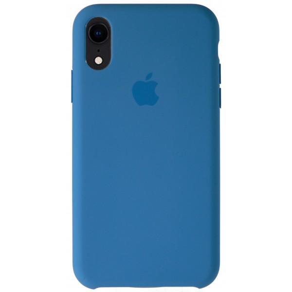 Чехол Silicone Case качество Lux для iPhone XR синий василёк