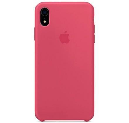 Чехол silicone case iphone xr гибискус