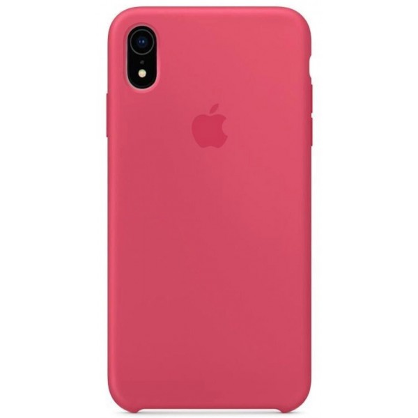 Чехол silicone case iphone xr гибискус
