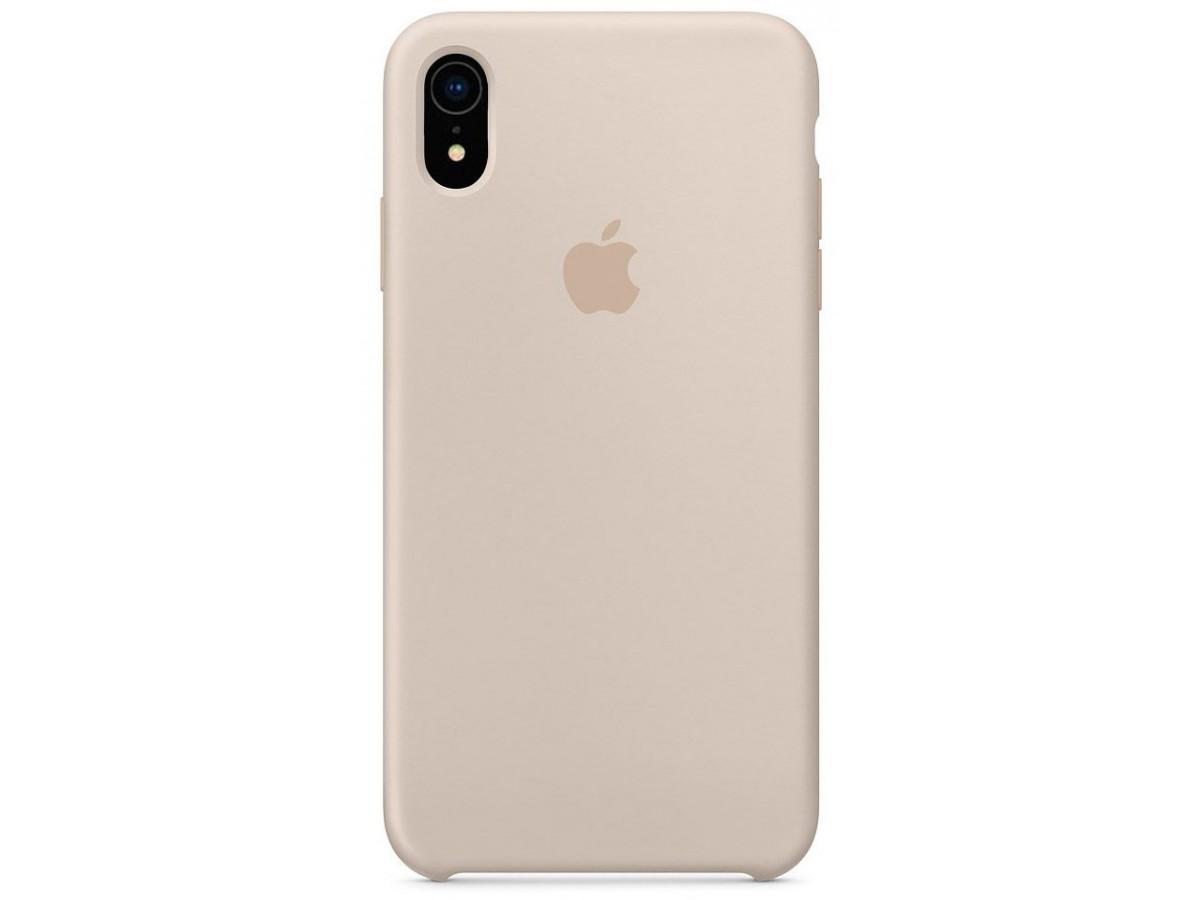 Чехол Silicone Case качество Lux для iPhone XR светло-серый в Тюмени
