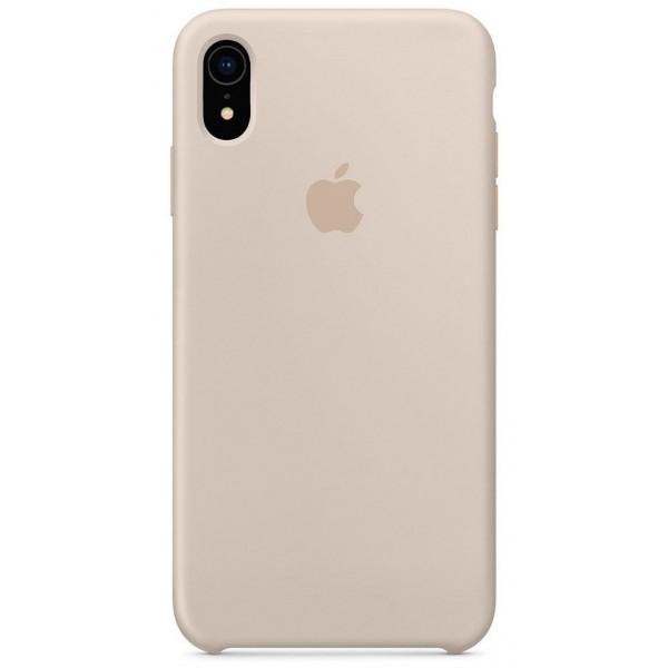 Чехол Silicone Case качество Lux для iPhone XR светло-серый