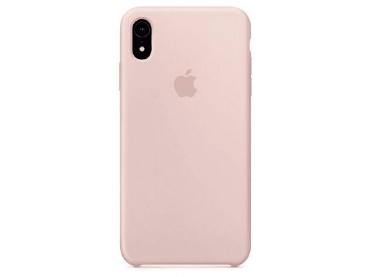 Чехол Silicone Case iPhone Xr светло-розовый в Тюмени