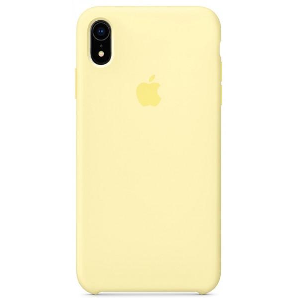 Чехол Silicone Case качество Lux для iPhone XR лимонный крем