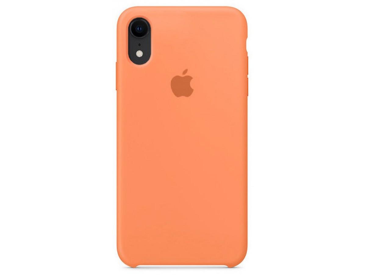 Чехол silicone case качество Lux для iPhone XR папайя в Тюмени