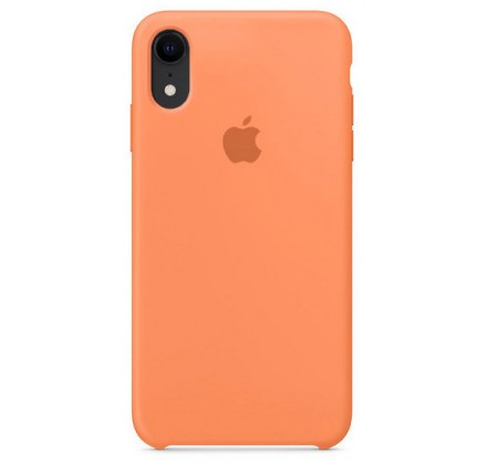 Чехол silicone case iphone xr папайя