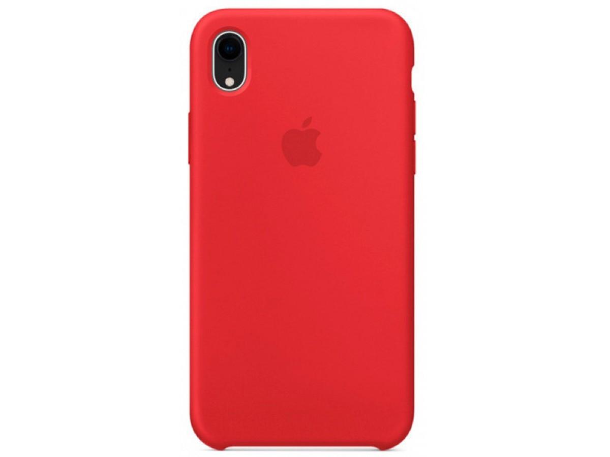 Чехол Silicone Case качество Lux для iPhone XR красный в Тюмени