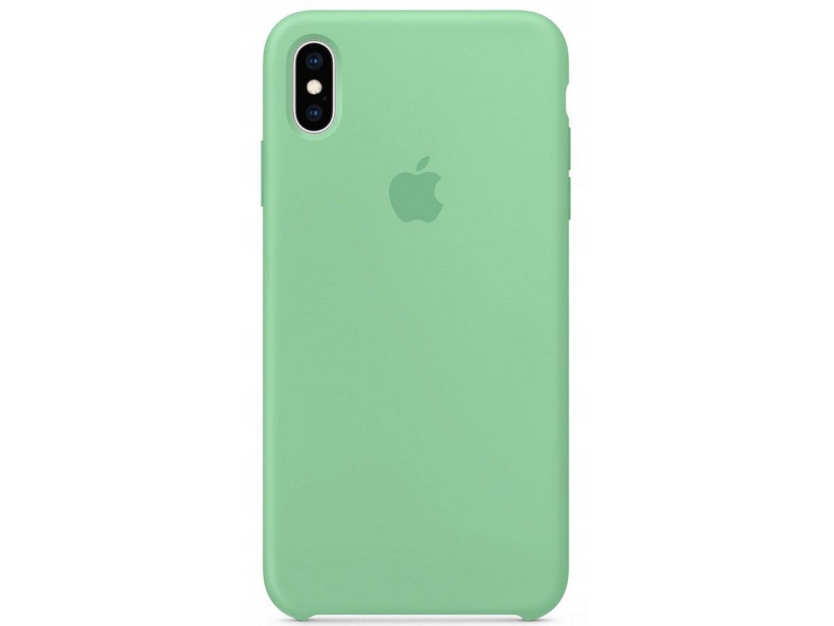 Чехол Silicone Case iPhone X/Xs мятный в Тюмени