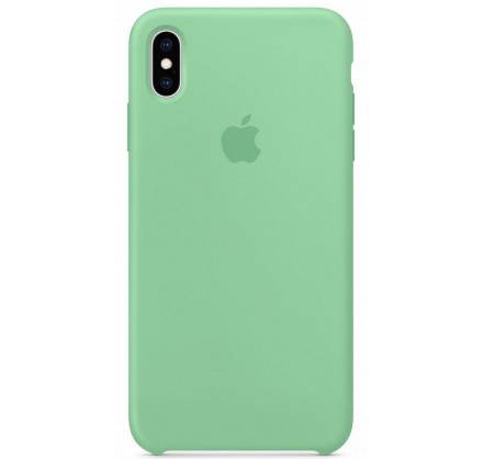 Чехол Silicone Case iPhone Xs Max мятный