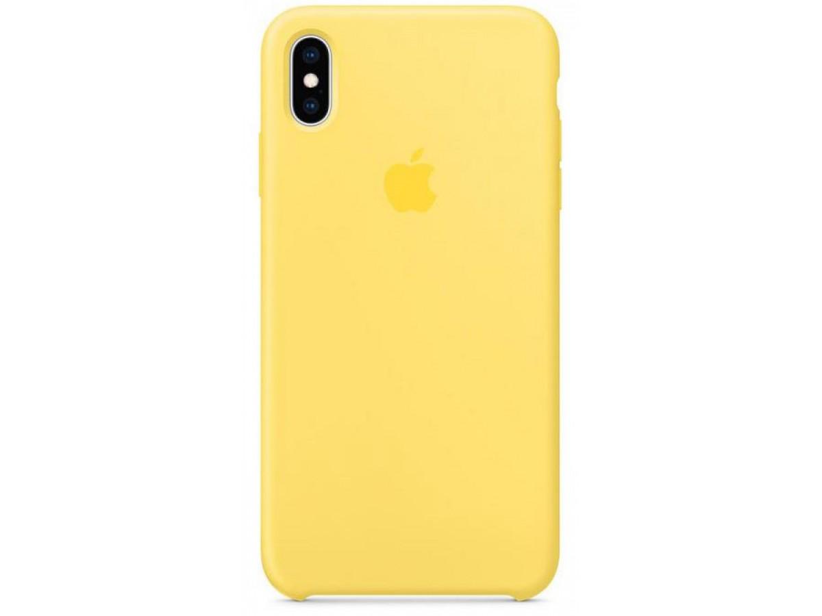 Чехол Silicone Case iPhone Xs Max желтый в Тюмени
