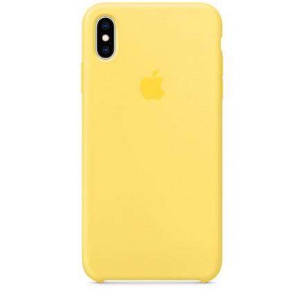Чехол Silicone Case iPhone Xs Max желтый