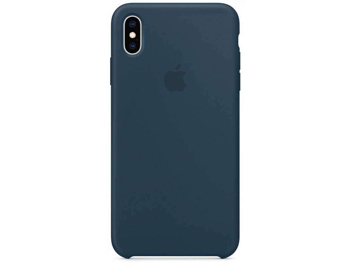 Чехол Silicone Case качество Lux для iPhone Xs Max тихий океан в Тюмени