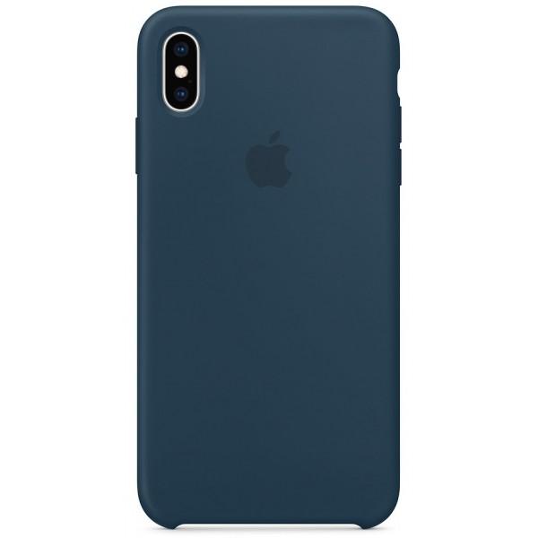 Чехол Silicone Case качество Lux для iPhone Xs Max тихий океан