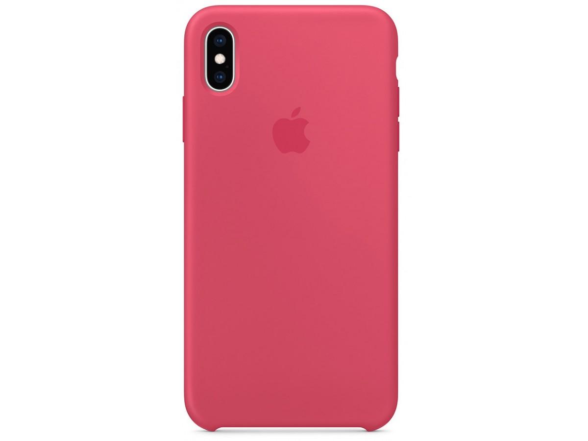 Чехол Silicone Case качество Lux для iPhone X/Xs гибискус в Тюмени