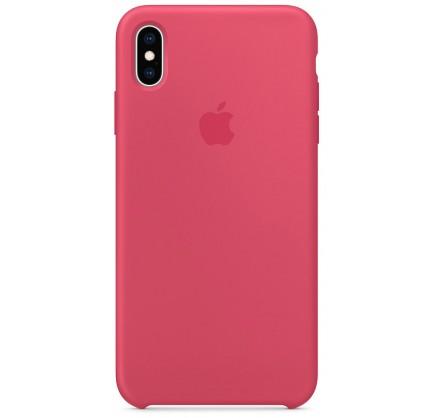 Чехол Silicone Case iPhone Xs Max гибискус