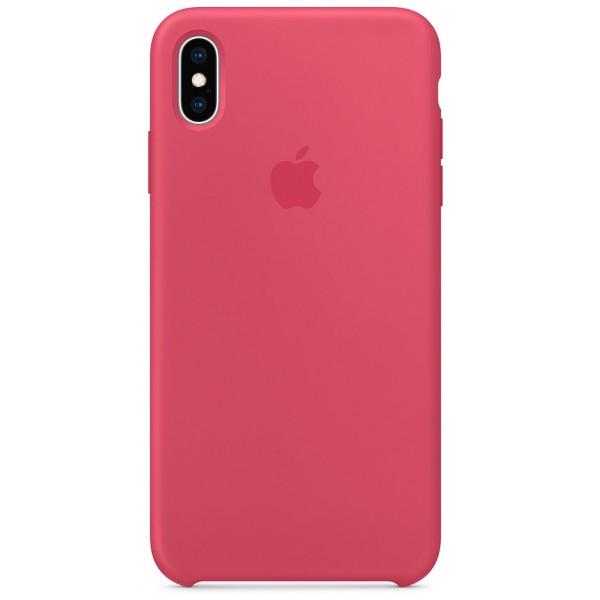 Чехол Silicone Case качество Lux для iPhone X/Xs гибискус