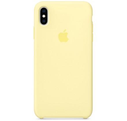 Чехол Silicone Case iPhone Xs Max лимонный крем