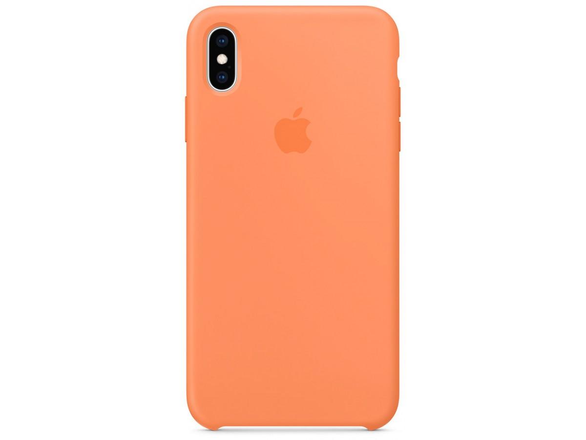 Чехол Silicone Case качество Lux для iPhone Xs Max папайя в Тюмени