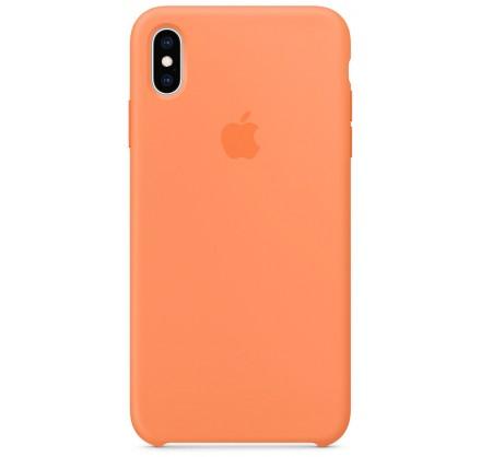 Чехол Silicone Case качество Lux для iPhone X/Xs папайя