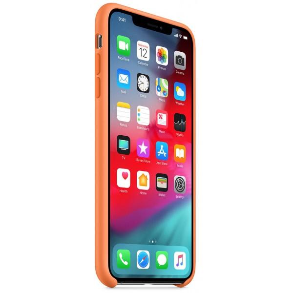 Чехол Silicone Case качество Lux для iPhone Xs Max папайя