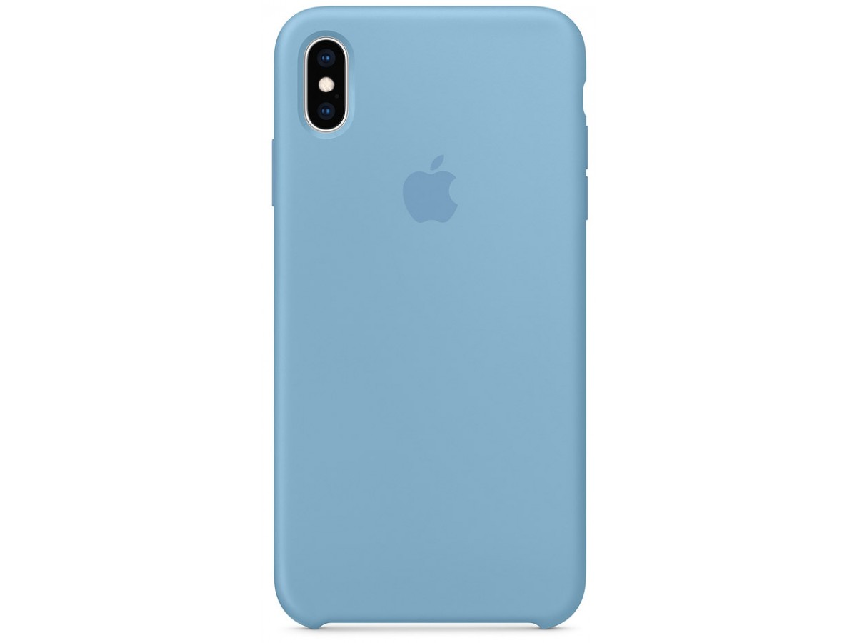 Чехол Silicone Case iPhone Xs Max синий василек в Тюмени