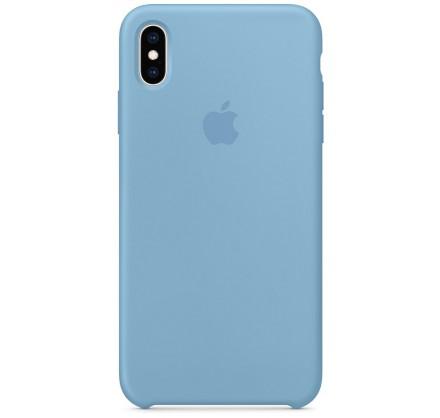 Чехол Silicone Case iPhone Xs Max синий василек