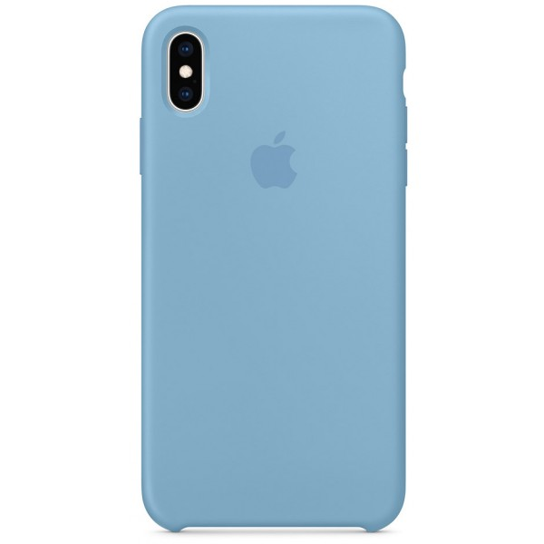 Чехол Silicone Case iPhone Xs Max синий василек