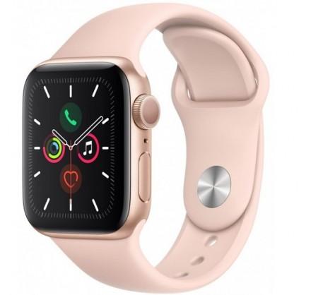 Apple Watch Series 5, 44 мм, корпус из алюминия золотог...