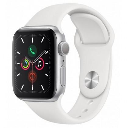 Apple Watch Series 5, 44 мм, корпус из алюминия серебри...