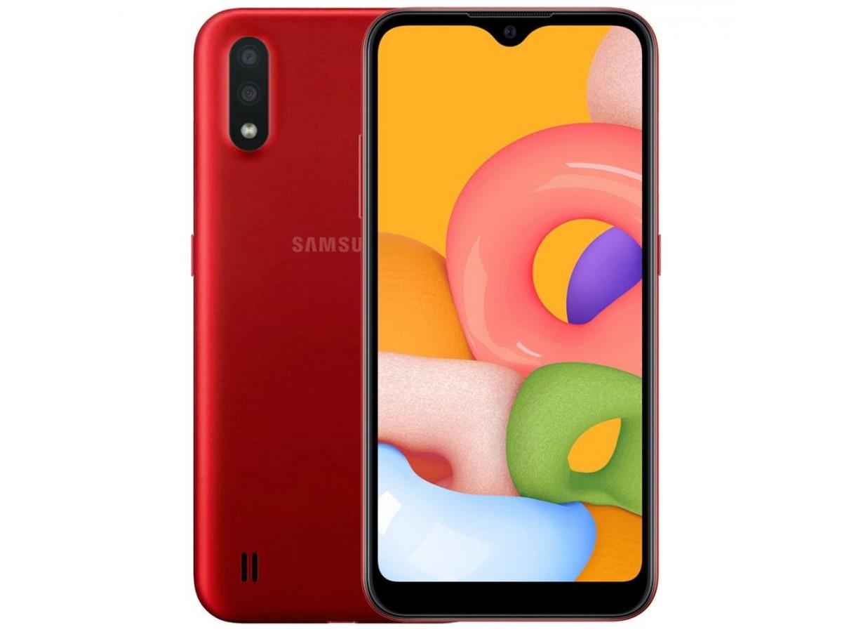 Samsung Galaxy A01 16 GB  (красный) в Тюмени