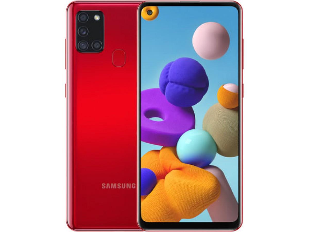 Samsung Galaxy A21s 32 GB (красный) в Тюмени