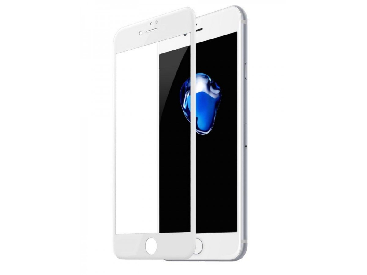 Стекло защитное iPhone 7/8/SE 2020 (3D) Baseus белое в Тюмени
