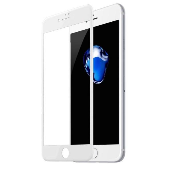 Стекло защитное iPhone 7/8/SE 2020 (3D) Baseus белое