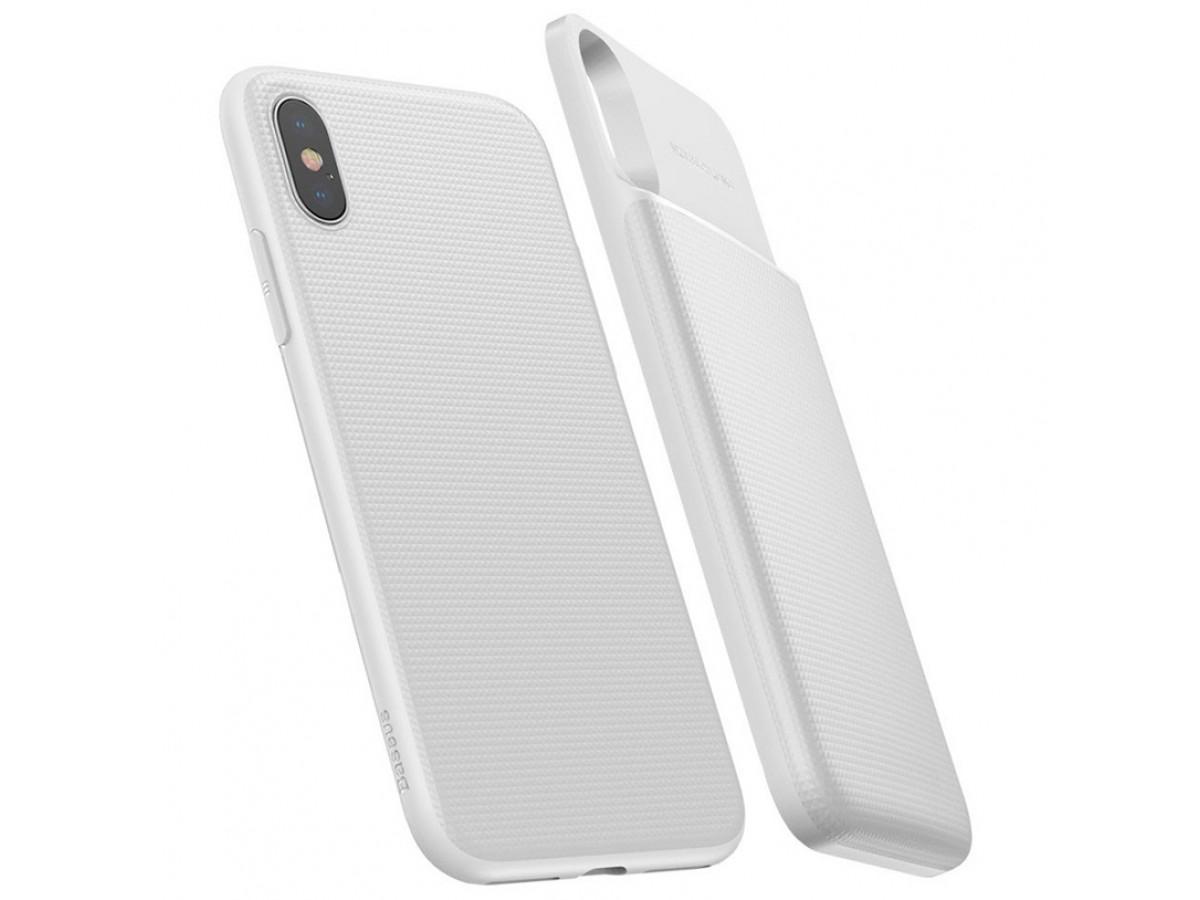 Беспроводной чехол-зарядка Baseus для iPhone X белый в Тюмени