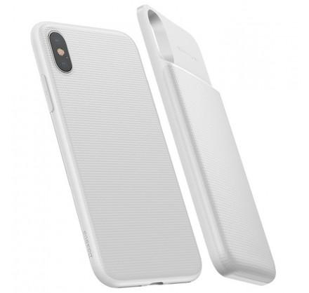 Беспроводной чехол-зарядка Baseus для iPhone X белый