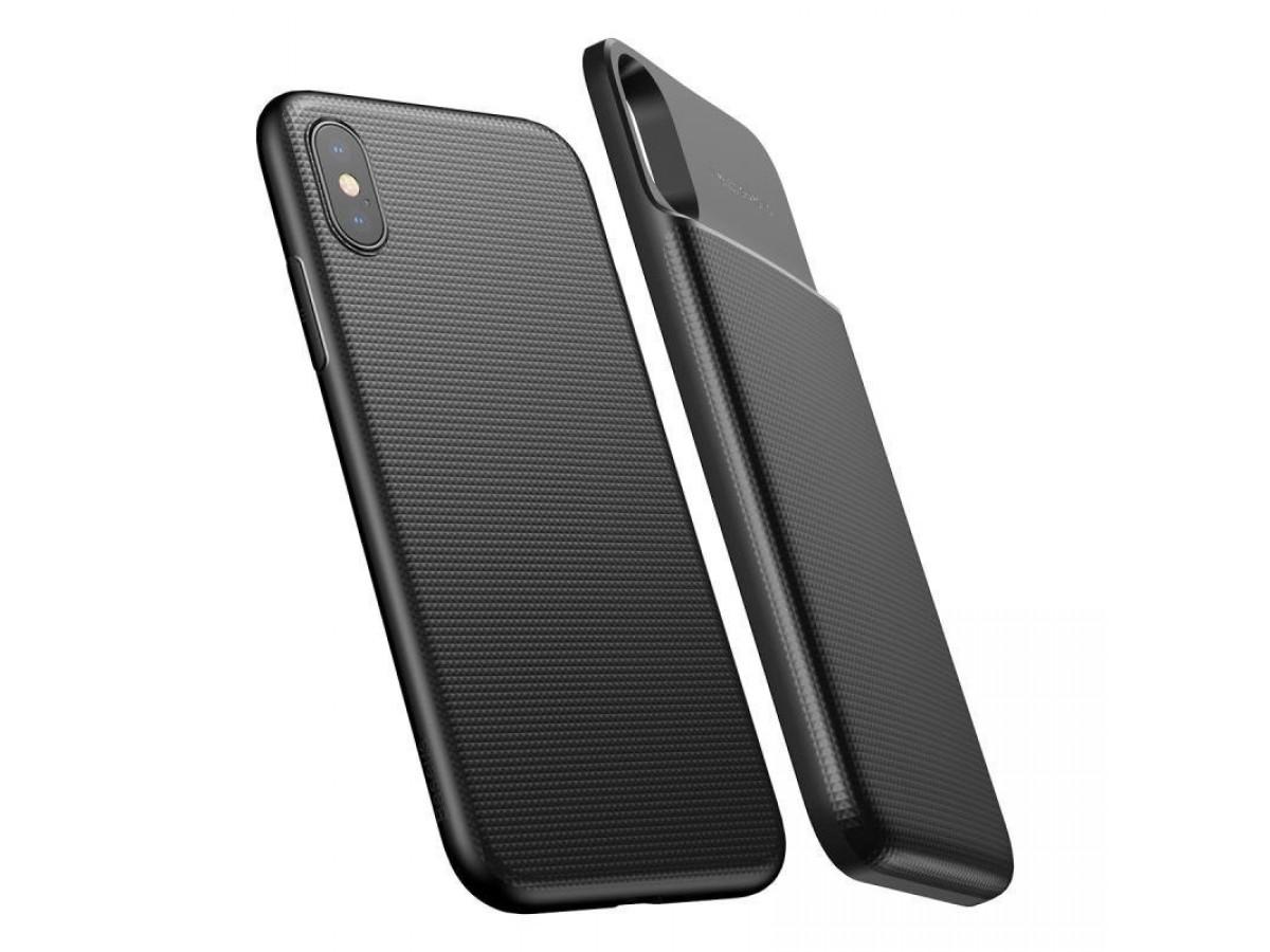 Беспроводной чехол-зарядка Baseus для iPhone X черный в Тюмени