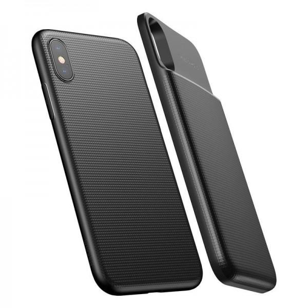 Беспроводной чехол-зарядка Baseus для iPhone X черный