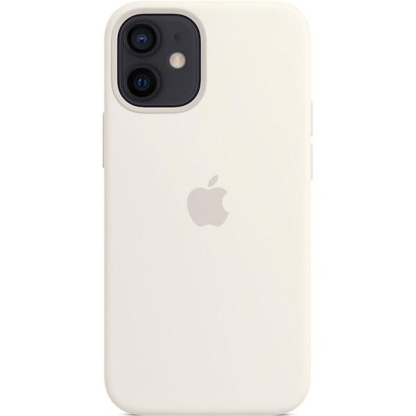 Чехол Silicone Case magsafe качество Lux для iPhone 12 mini белый