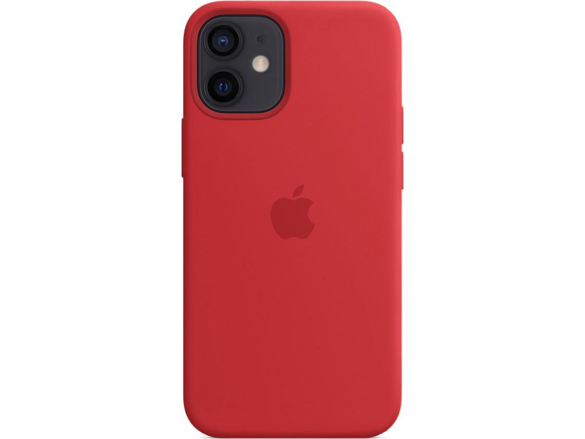 Чехол Silicone Case magsafe качество Lux для iPhone 12 mini красный в Тюмени