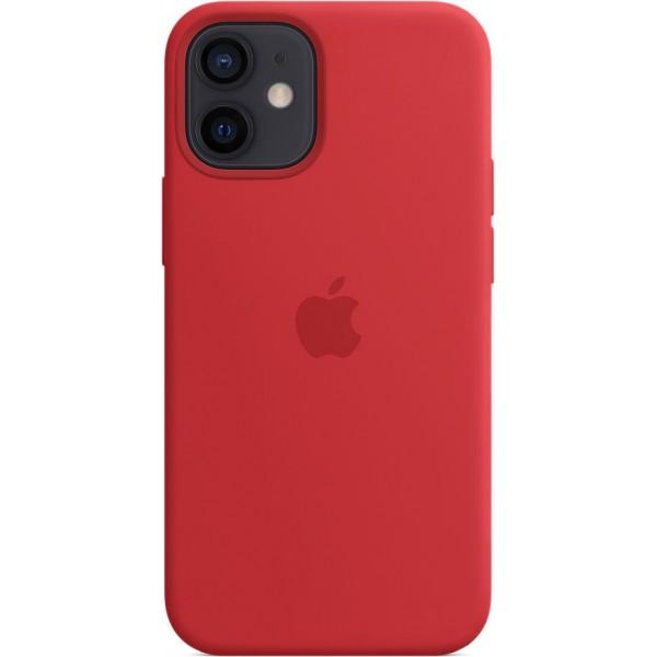 Чехол Silicone Case magsafe качество Lux для iPhone 12 mini красный