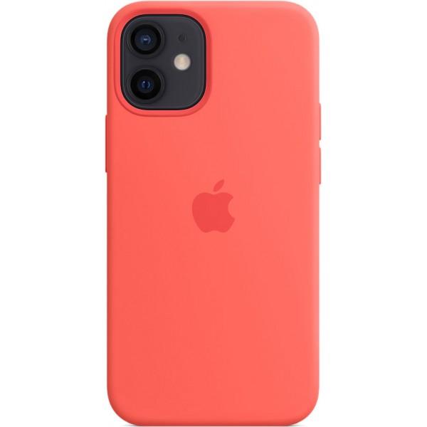Чехол Silicone Case magsafe качество Lux для iPhone 12 mini розовый цитрус
