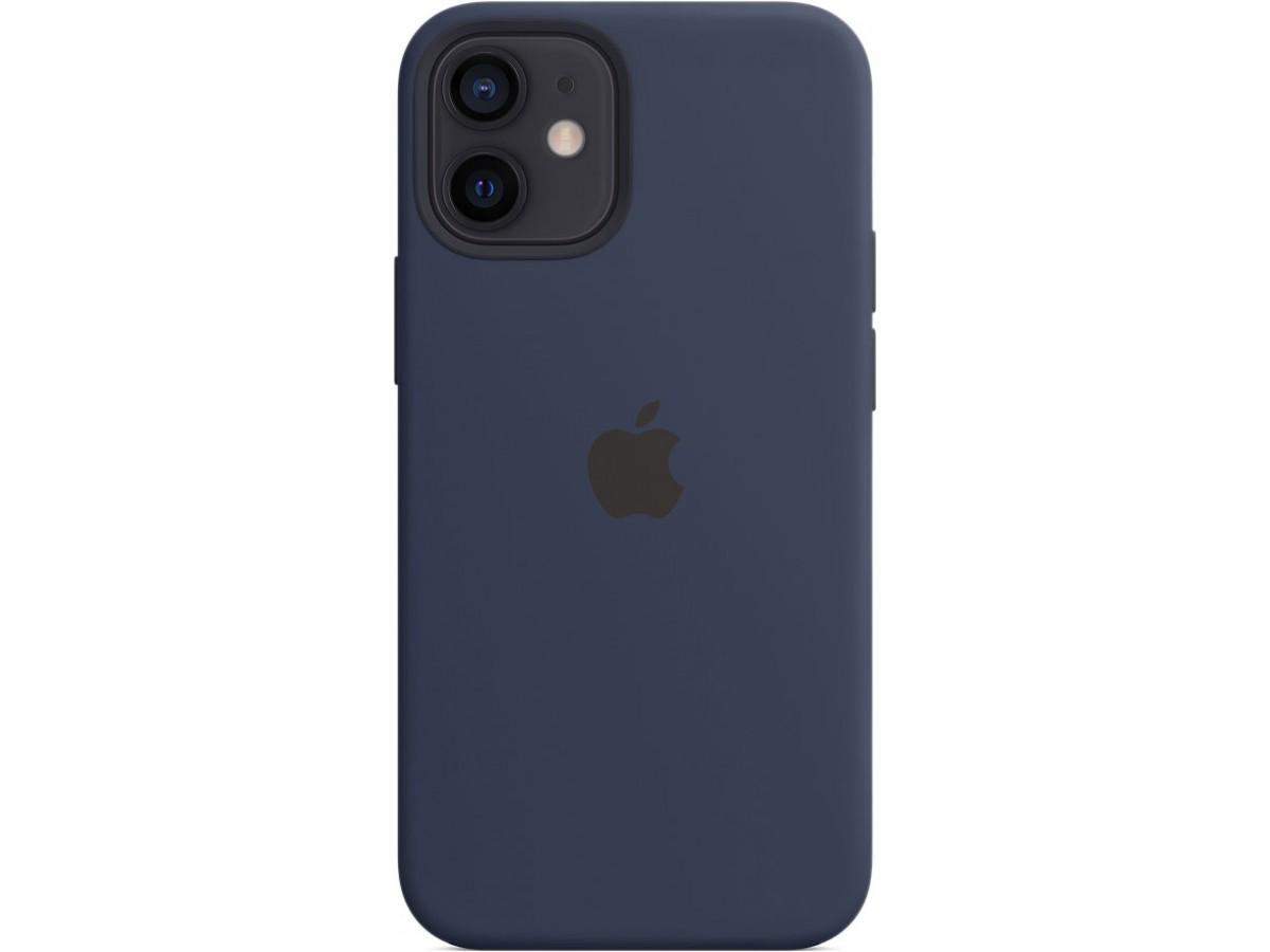 Чехол Silicone Case magsafe качество Lux для iPhone 12 mini темно-синий в Тюмени